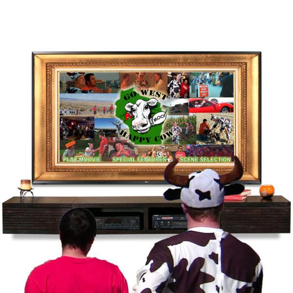 Go West Happy Cow watching DVD
