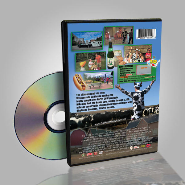 Go West Happy Cow DVD Back
