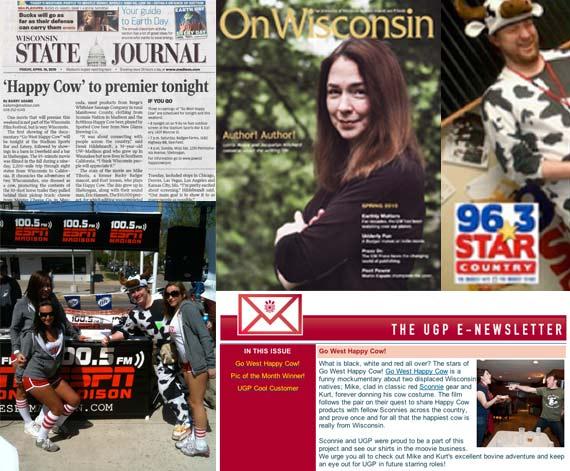 Go West Happy Cow press